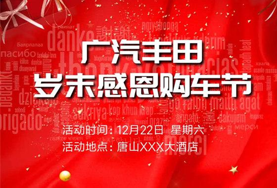 12月22日广汽丰田岁末感恩购车节