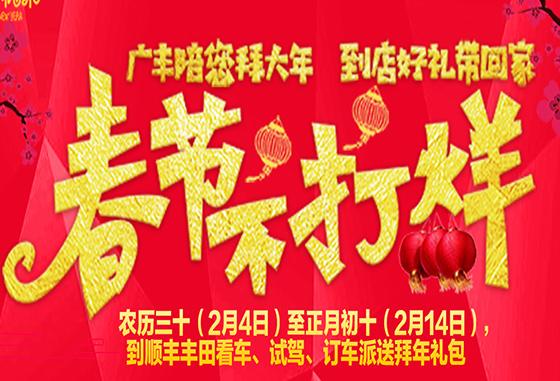 【春节不打烊】顺丰丰田陪您过大年!