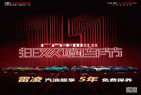 广汽丰田渭南朝霞店11-11狂欢购车节