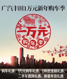广汽丰田1万元新年购车季